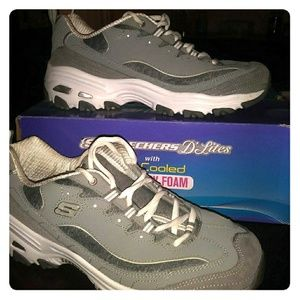 Skechers D'lites with memory foam
